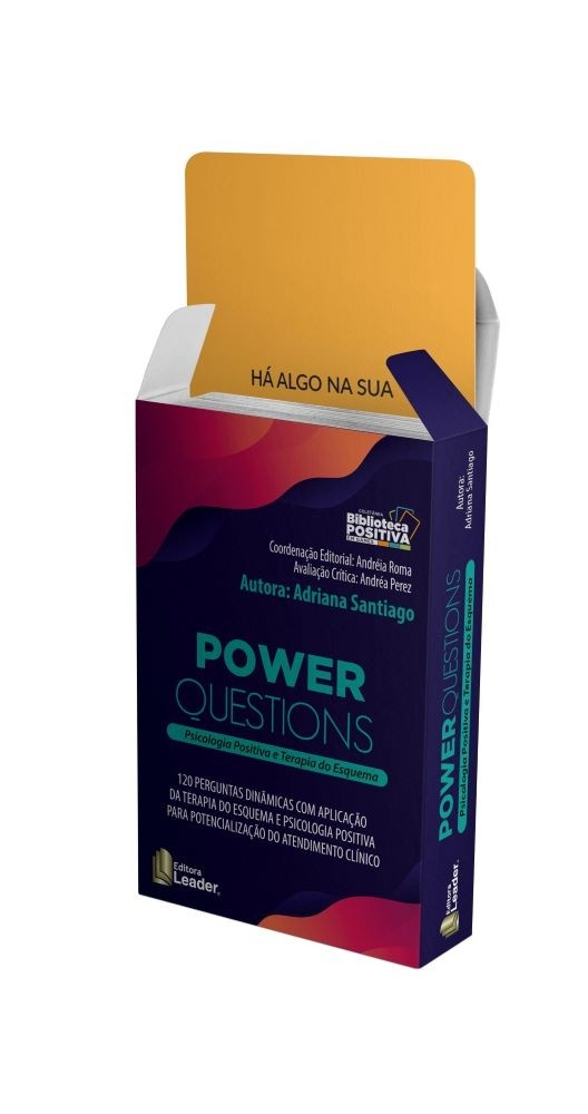 Jogo Power Questions Card - Psicologia Positiva e Terapia do Esquema